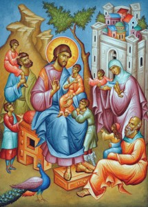 Jesus Welcomes the Little Children (Pic)