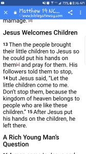 Matthew 19 - 13-15 Screenshot