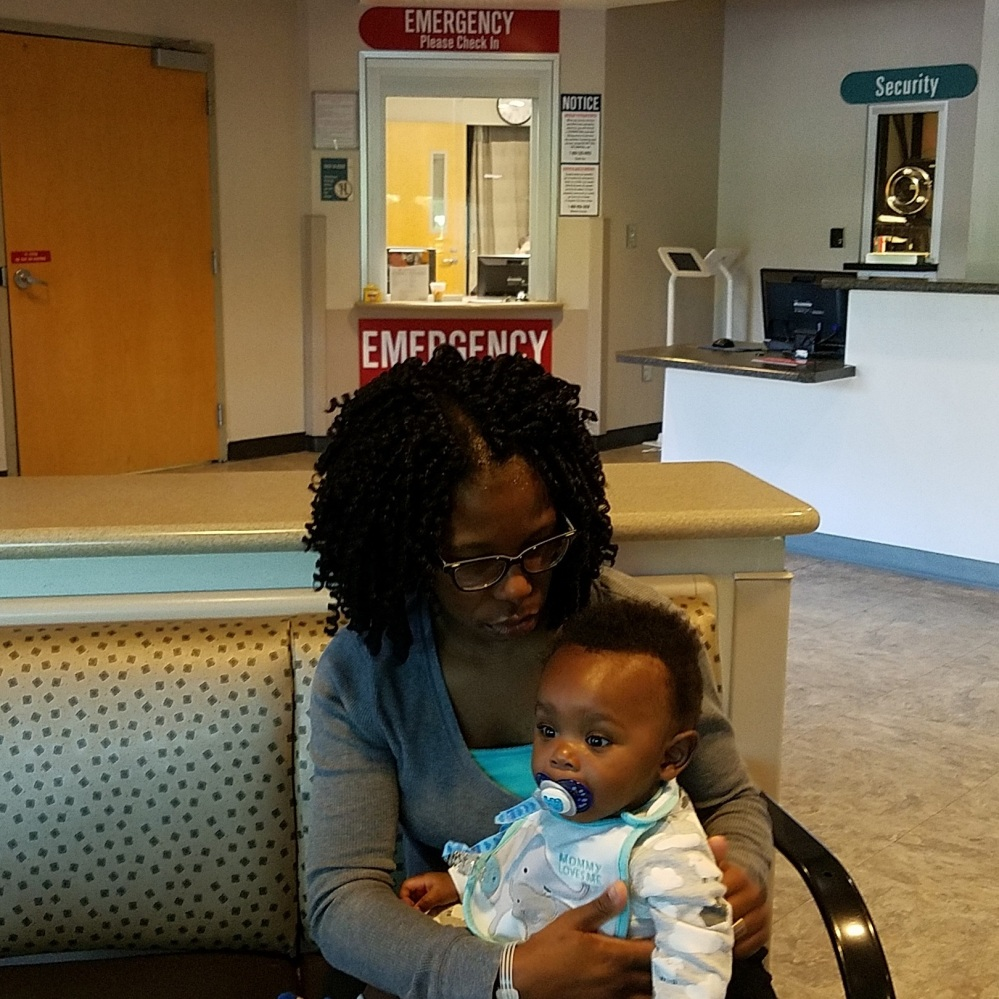 Elijah and Mom at the ER - 06-18-2017